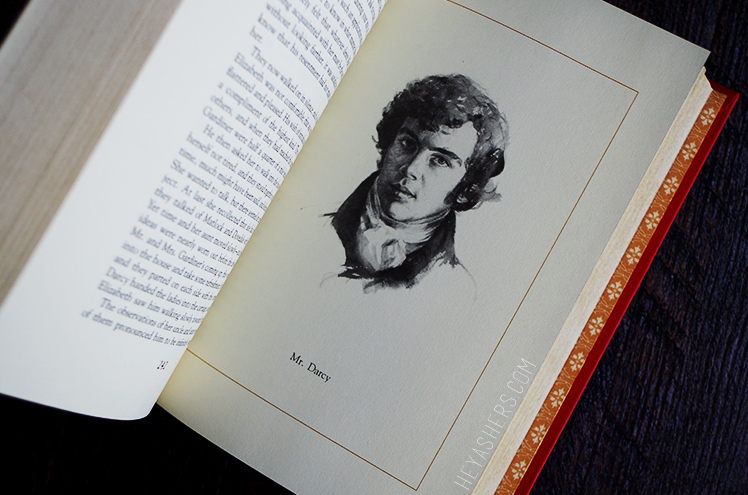 Pride and Prejudice hardback book illustration picture